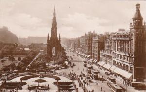 Scotland Edinburgh Scott's Monument & Princes Street Photo