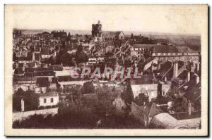 Old Postcard Langres Panorama Seen From The Church of St. Martin