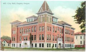 City Hall, Eugene, Oregon, OR , Divided Back