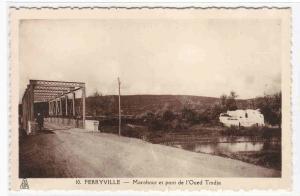 Marabout et Pont de l'Oued Tmdja Bridge Ferryville Bourguiba Tunisia postcard