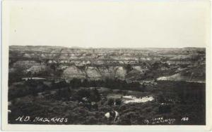 North Dakota Badlands North Dakota, ND, RPPC