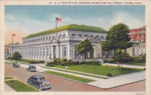 Ohio Toledo Post Office At Madison Avenue and 13th Street Curteich