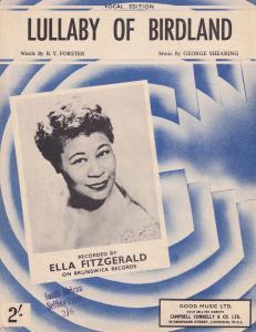 Lullaby Of Birdland Ella Fitzgerald 1950s Sheet Music