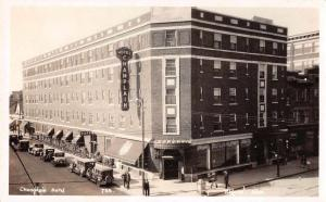 Regina Saskatchewan Canada Champlain Hotel Real Photo Antique Postcard J73813