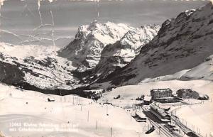 Switzerland Old Vintage Antique Post Card Kleine Scheidegg 1962