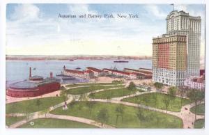 Aquarium and Battery Park New York NY ca 1910 Postcard