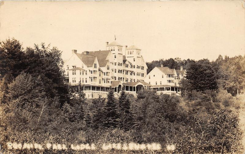 Sunapee New Hampshire~Park Lodge~Beautiful Building~1922 RPPC