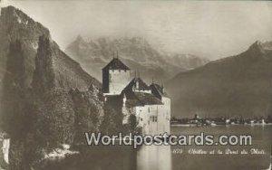 Chillon et la Dent du Midi Swizerland 1929