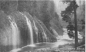 G35/ Shasta Springs California Postcard RPPC c1910 Mossbrae Falls