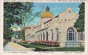 Quapaw Baths The House With The Big Dome Hot Springs Arkansas 1937