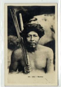 paraguay, Native Indian Warrior, Guarany Indio 30s RPPC