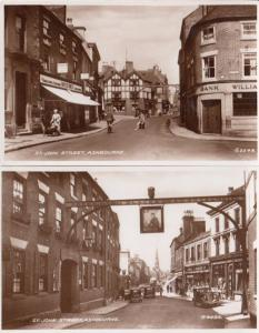 St John Street Ashbourne Derby 2x Old Real Photo Postcard s
