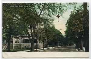 North Front Street Scene Milton Pennsylvania 1910s postcard