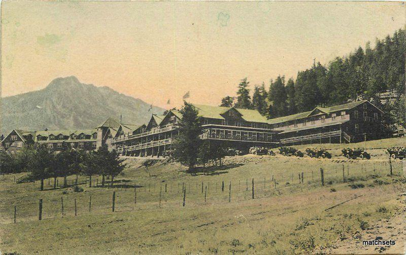 Albertype Estes Park Chalets Lodge 1920s National Park Colorado postcard 11543