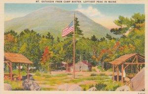 MILLINOCKET, Maine, 1930-40s; Mt. Kathadin from Camp Baxter, Loftiest Peak in...