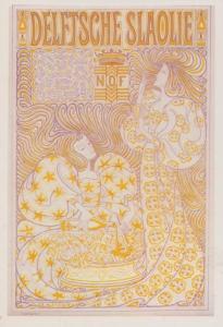 German Salad OIl Delftsche Slaloie Jan Toorop Victorian Poster Postcard