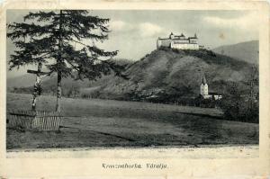 Slovakia Krasna Castle Krasznahorka Varalja 1930s postcard