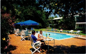 Rosedon Hotel Bermuda People Pool UNUSED Vintage Advertising Postcard E76