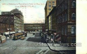 Entrance To Penn Ferry  Jersey City NJ 1913