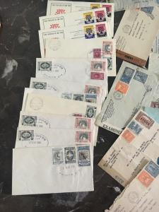 Stunning 75 Latin America Censored  First Day Covers FDCs AirMail Lot