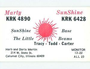 comic - QSL CB HAM RADIO CARD Calumet City Illinois IL s0312-12