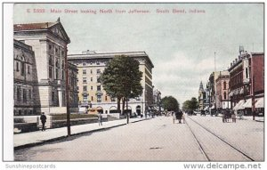 Main Street Looking NOrth From Jefferson South Bend Indiana 1907