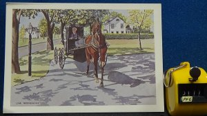 Continental Replica Amish Women Horse Drawn Bugsy Original Water Color by Lisa