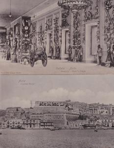 Valletta Malta Armoury Dukes Palace Customs House 2x Old Real Photo Postcard