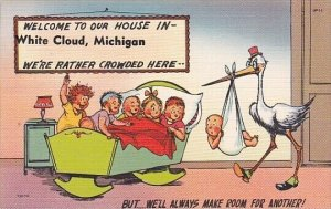 Humour Stork Delivering Baby White Cloud Michigan