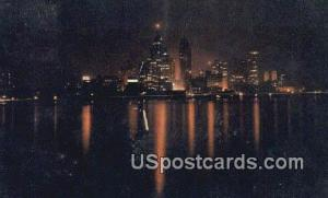 Detroit, MI Postcard     ;     Detroit, Michigan Post Card Detroit MI 1952