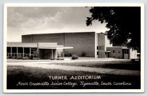 Tigerville SC Art Deco Turner Auditorium~North Greenville JUCO c1950 RPPC PC