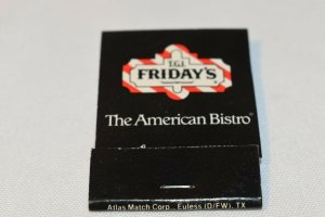 T.G.I. Friday's The American Bistro 20 Strike Matchbook