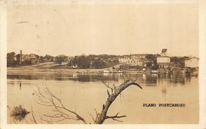HENRY, ILLINOIS RIVER LANDING-1918 RPPC REAL PHOTO POSTCARD