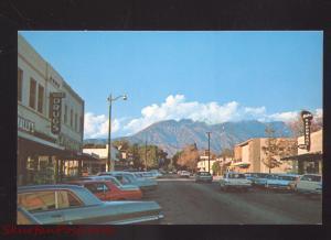 UPLAND CALIFORNIA DOWNTOWN MAIN STREET SCENE 1960's CARS VINTAGE POSTCARD