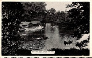 Maryland Baltimore Druid Hill Park Boat Lake 1940
