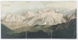 Swiss FRED BOISSANNAS Signed Mont Blanc Mont Maudit RARE 1904 Tri Postcard K20