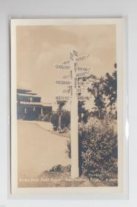 Old MONTMORENCY FALLS Kent House Quebec Canada RPPC Postcard ROAD SIGN