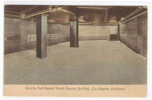 Security Vaults Interior Bank Los Angeles CA postcard