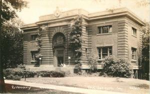1940s MT VERNON IOWA Library RPPC Real photo postcard 3754