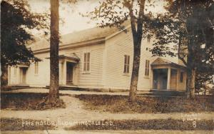 Bloomingdale Indiana~Friends Church~Door Marked X~In & Out With Bruce~c1912 RPPC
