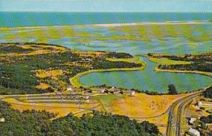 Massachusetts Cape Cod Aerial View Of Salt Pond Visitor Center