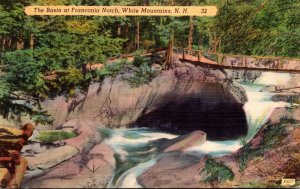 New Hampshire White Mountains The Basin At Franconia Notch 1954