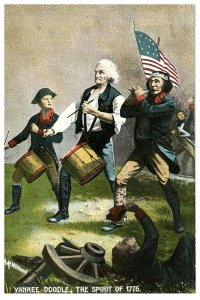 Yankee Doodle Il Spirit Di 1776 Patriottico Cartolina 1908