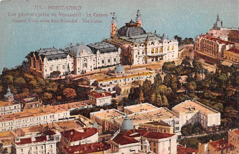 General View, The Casino Monte Carlo Unused