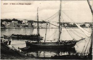 CPA Anzio Il Porto e la Riviera Zanardelli . ITALY (546028)