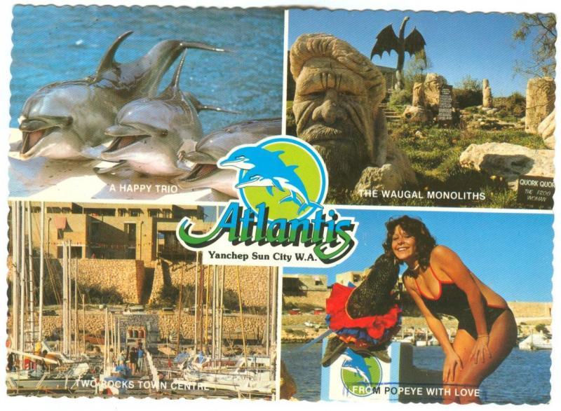Australia, Atlantis, Yanchep Sun City, W.A. 1986 used Postcard