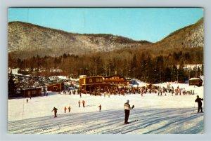 Rutland VT- Vermont, Pico Peak Ski Area, Base Buildings, Chrome Postcard