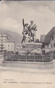 Monument B. De Saussure Et J. Balmat, Chamonix (Haute Savoie), France, 1900-1...