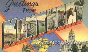 Greetings from, Kentucky Postcard     ;     Greetings from, KY Post Card Gree...
