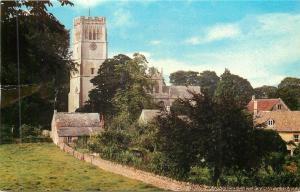 Northleach UK~The Church & Neighboring Houses 1950